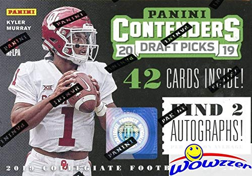 2019 Panini Contenders Draft Pick NFL Football EXCLUSIVE Factory Sealed Retail Box with TWO(2)...