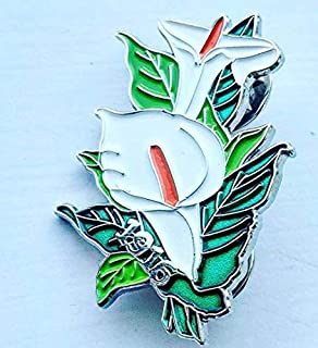 New Easter Lily Flower Enamel Pin Badge - Irish Republican Rebel 1916