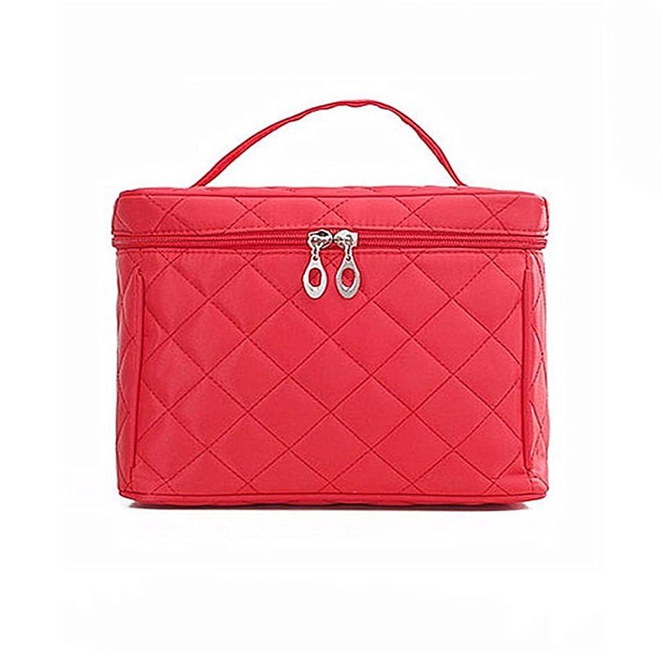 エレガント遠足めまいがyangdi 美容師大型化粧品バッグケース オーガナイザー 美容化粧箱 バッグ 旅行 トイレタリー ウォッシュ ポーチ レッド