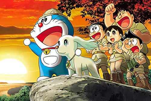 YUNZHEN Personaggio Anime Doraemon 500 Pezzi Puzzle Giocattoli intellettuali per Adulti e Bambini Gioco di abilità educativi Giochi di Puzzle Jigsaw Puzzle , Regali per Compleanni, Feste e Natale