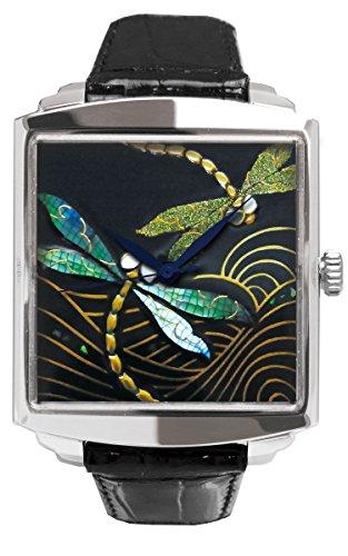 Urushi Maki-e - Reloj con libélula