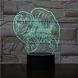 AOXULIU Luz de noche 3D Animal Night Light Led Night Light Perro Lámpara De Mesa Decoración NiñosFestival DeCumpleañosAmigo Regalo Base Negra