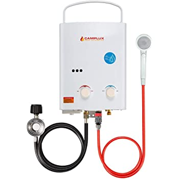 Camplux 5L 1.32 GPM Portable Outdoor Tankless Propane Water Heater