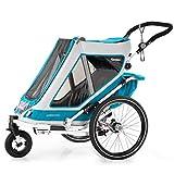 Qeridoo Speedkid 1 (2020) Fahrradanhänger für 1 Kind, Kinderfahrradanhänger - Grau für Kinder, Link führt zur Produktseite bei Babymarkt