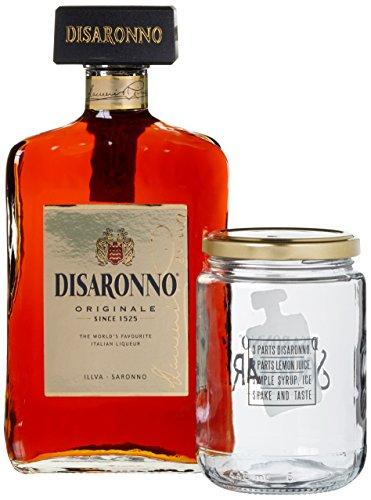 Di Saronno Disaronno Amaretto Originale Likör mit Mason Jar-Glas (1 x 0.7 l)