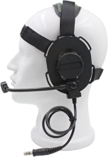 Dong Wearing a Head Z Tactical Headset Mic Radio HD-03 Tactical
