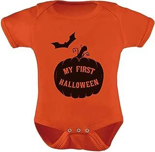 My First Halloween Pumpkin Baby Grow Vest Cute Unisex Baby Bodysuit