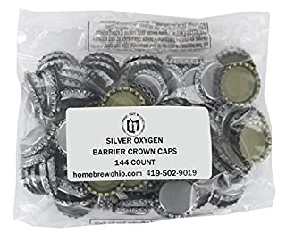 شراء Silver Oxygen Barrier Crown Caps 144 Count