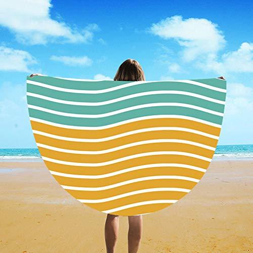 Muelle De Toallade Playa Impreso por Viento Mediterráneo Y Viajes por La Bahía Niños Chica Yoga Ronda Camas De Sol A Rayas 150 X 150Cm 150 X 150Cm Un