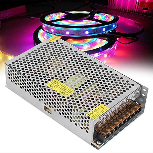 Transformador de fuente de alimentación estable Disipación rápida de calor LED Interruptor de fuente de alimentación seguro para ingeniería informática (12V20A (250W), rosa)