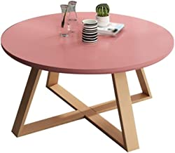 C-J-Xin Solid Wood End Tables, Balcony Simple Small Round Table Living Room Furniture Sofa Tables Hotel Apartment Side Tab...