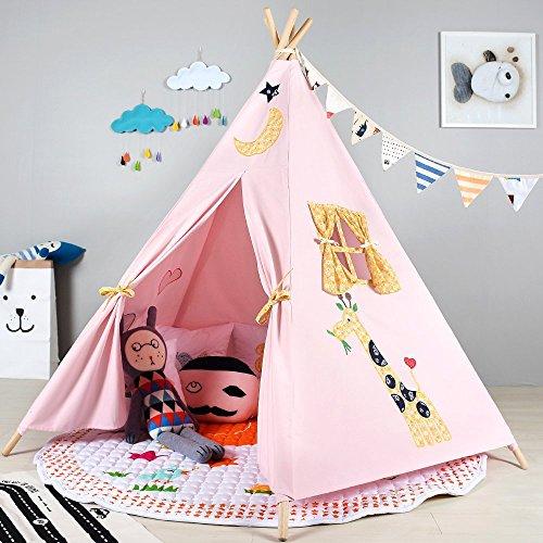 Tipi en éléphant de qualité supérieure Tente de Jeu pour Enfants / Cabane pour Enfants / Tente Indienne par Integrity co (Rose)