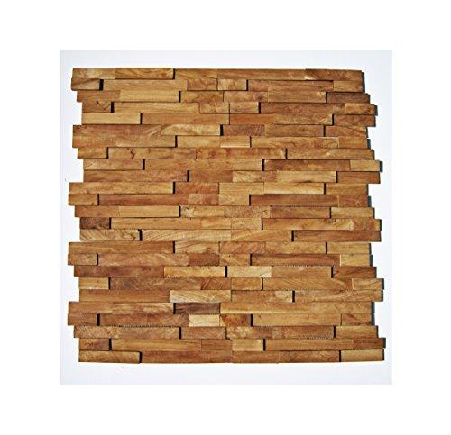 HO-M-002-1 Muster Fliese Teak-Holz Mosaikfliesen Wand-Verblender Stein-Mosaik Fliesen Lager Verkauf Herne NRW