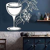 ガラスブドウワインショップキッチン装飾切断壁ステッカービニールバークラブデカール自己接着転送フィルム壁画壁紙45x42cm