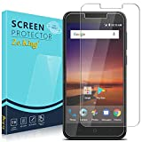 Zeking for Tempered Glass Screen Protector compatible with ZTE Tempo X/N9137/ Avid 4-2 pack
