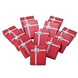 NBEADS Juego de 12 Cajas de Regalo de Cartón con Diseño de Lazo, para Collares Y Pulseras, 9 X 7 X 3 Cm