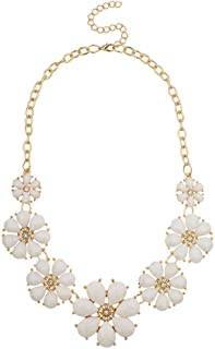 Best flower necklace white Reviews