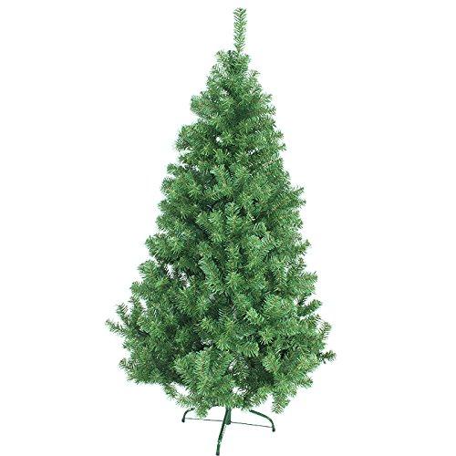Hengda® 150 cm ca. 350 Zweige Künstlicher Weihnachtsbaum Kiefer Grün mit Metallständer Kunsttanne Tannenbaum Christbaum Hoch