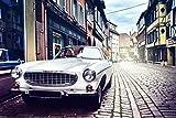 Auto Oldtimer Straße Gasse City Stadt XXL Wandbild Foto