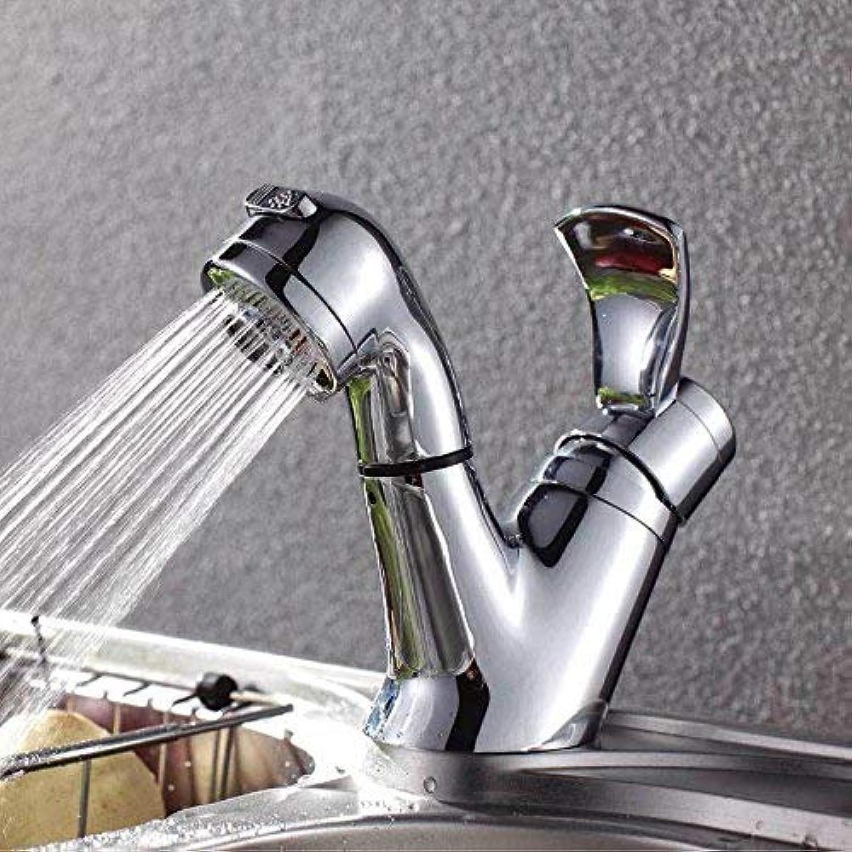 Oudan Full copper faucet basin faucet pull basin faucet drainage basin faucet