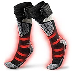 commercial Thermal heating socks – Battery-powered winter foot warmers for adults, men and women … battery operated socks