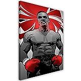 Feeby. Wandbild - 1 Teilig - 50x70 cm, Leinwand Bild Leinwandbilder Bilder Wandbilder Kunstdruck, Tyson - Nikita Abakumov, Box, Boxer, ROT