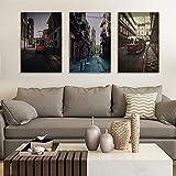 Cuadro en lienzo para decoración del hogar, pósteres e impresiones vintage ciudades, artículos de dormitorio, impresiones modernas, retro, creativo, cuadro de pared, 40 x 60 cm, sin marco