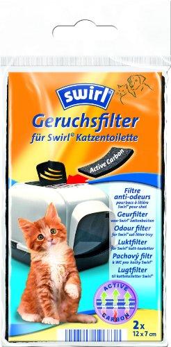 Swirl 196838 Geruchsfilter Katzentoiletten, 2 STK