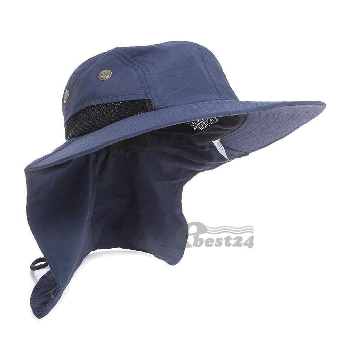 エジプト人誓う動力学日よけ帽 HJ夏の釣りハイキングガーデン屋外ブリムネックカバーバケツBoonie日フラップハットブッシュキャップメンズレジオネラハット紫外線対策 (Color : Blue)