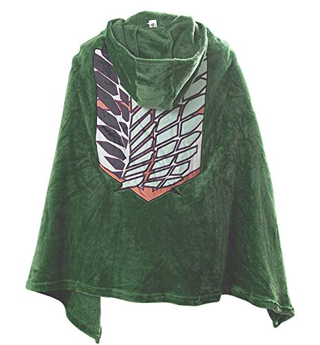 Armin Arlert Blanket Attack on Titan Ropa Ninas SNK Hoodie Cloak Wings of Liberty Capucha