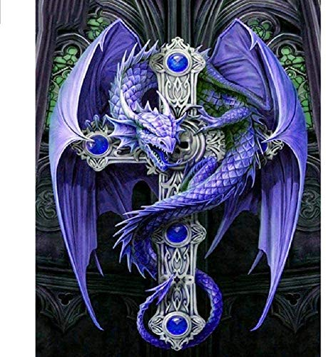 Wooden Puzzle 1000 Pieces Dragon and Cross Patterns,Adult Children's DIY Experience, Leisure and Entertainment Gifts, Parent Child Puzzle Game DecorationFinished size:75cm*50cm