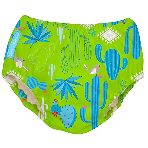 Product Image of the Charlie Banana Baby Reusable and Washable Swim Diaper for Boys or Girls, Cactus...