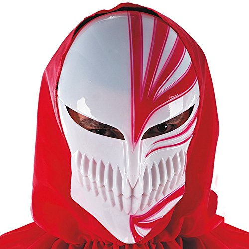 Masque Manga Blanc et Rouge Adulte - Joker Halloween Accessoire - 584