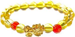 Feng Shui Rijkdom Armband,Welvaart Feng Shui Crystal Bead Armband met Golden Pi Xiu/Pi Yao Trek rijkdom en geluk