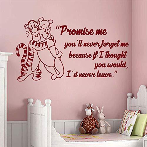 Winnie The Pooh Wall Decal citaat met tekst