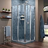 DreamLine Cornerview 34 1/2 in. D x 34 1/2 in. W x 72 in. H Framed Sliding Shower Enclosure in Chrome, SHEN-8134340-01