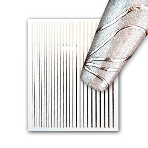 Nail Art Flexxies - Flexible Dekostreifen, 05 roségold