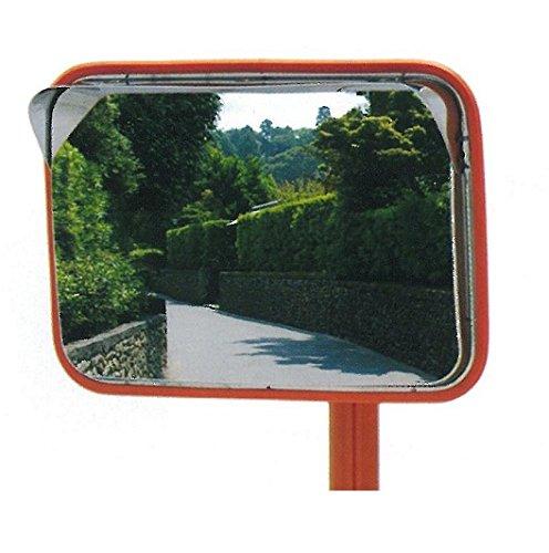 ステンレスカーブミラー 角型 195x295mm 道路反射鏡
