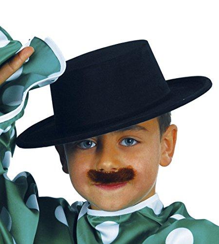 Guirca - Sombrero cordobs flocado, para nios, color negro (13340)