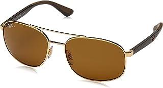 Ray-Ban Men's Rb3593 Metal Square Sunglasses