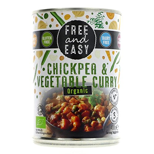 6 Pack of Gluten Free Free & Easy Chick Pea & Vegetable Curry 400 g