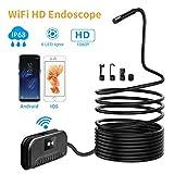 No branded Boroscopio Cámara de inspección inalámbrica Wi-Fi endoscopio 2,0 Mega píxeles de Alta definición boroscopio rígido Serpiente Cable de 10 Metros for iOS Android (Color : Soft, Size : 10m)