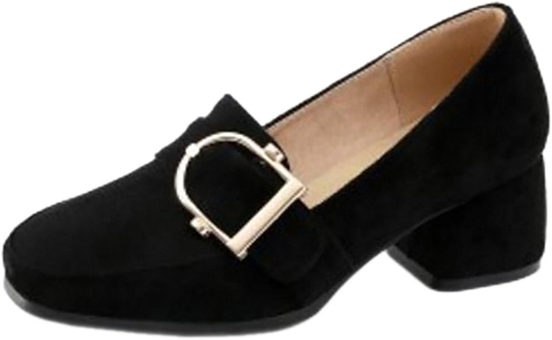 FizaiZifai Women Comfort Chunky Heels Court Heels