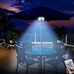 HONWELL LED Parasol Light Outdoor Patio Umbrella Light Battery Operated 16 RGB Colours Changing Dimmable Garden Umbrella…
