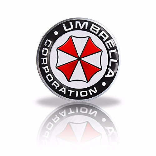 Umbrella Corporation Resident Evil Runden Metall Auto Aufkleber Abzeichen Decal