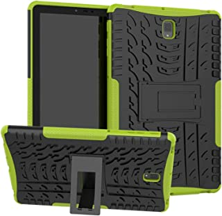 Folice Galaxy Tab S4 Case, [Heavy Duty][Shockproof] Hybrid Rugged Hard Rubber PC Tough Dual Layer Protective Case Cover with Kickstand for Samsung Galaxy Tab S4 10.5 2018 (Green)