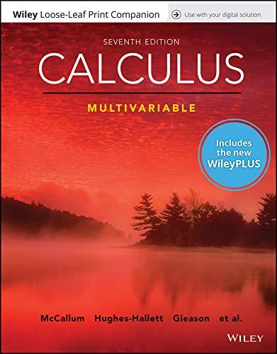 Calculus: Multivariable, 7e WileyPLUS Registration Card + Loose-leaf Print Companion