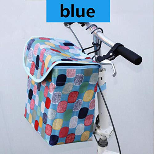 KNFBOK fietstassen voor stuur hond fiets drager Bike Basket Afneembare Vouwen Canvas Cyclus Waterdichte Doek Tas Huisdier stalen frame Carrier Organizer Fiets Opknoping Stuur Manden