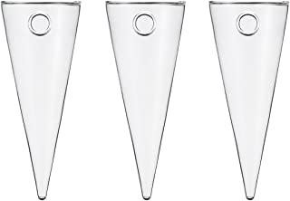3 Larger Glass Cone 3.5