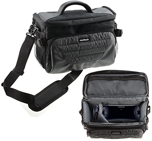 Navitech Grey Carry Bag with Shoulder Strap for Virtual Reality 3D headsets Including The Alcatel Idol+ (with VR)